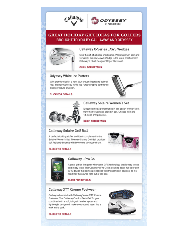 Digital Newsletter, Callaway page 1