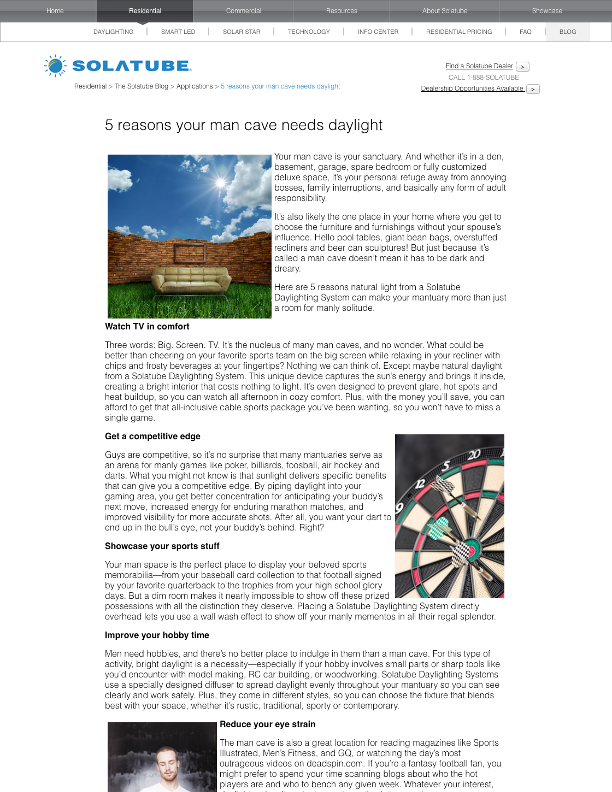 Blog Article, Solatube page 1