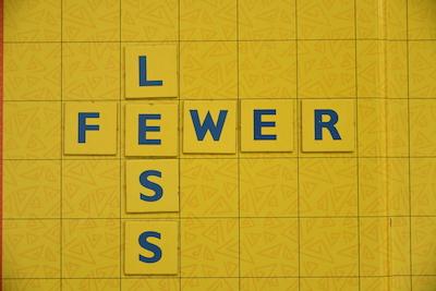 Less vs. Fewer on Scrabble Board