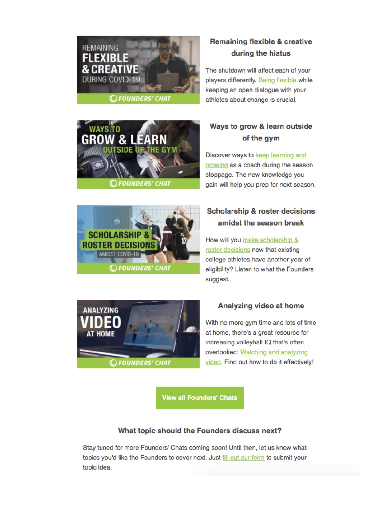 Email Newsletter, ACV page 2